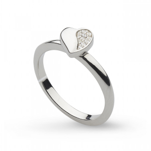 Miniature Sparkle CZ Sweet Heart Ring
