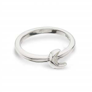Miniature Sparkle CZ Mini Moon Ring