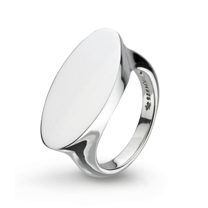 Bevel Curve Heirloom Signet Wide Ring