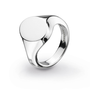 Bevel Curve Heirloom Signet Ring