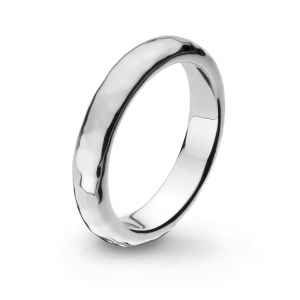Coast Pebble Hammered 4mm Ring