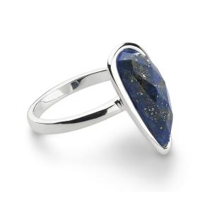 Coast Pebble Stone Long Lapis Lazuli Ring