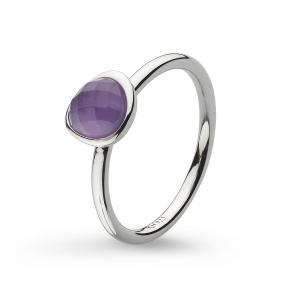 Coast Pebble Stone Mini Amethyst Ring