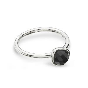 Coast Pebble Stone Mini Black Agate Ring