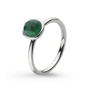 Coast Pebble Stone Mini Green Agate Ring