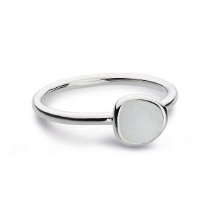 Coast Pebble Stone Mini Moonstone Ring-M