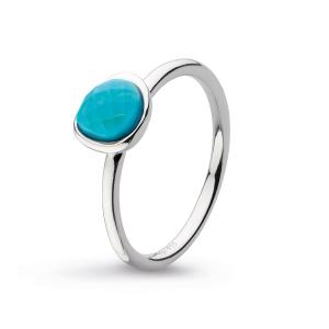 Coast Pebble Stone Mini Turquoise Ring