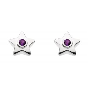 Stella Birthstone Amethyst Stud Earrings