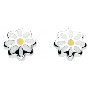 Girls Daisy Enamel Stud Earrings