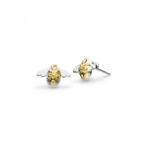 Blossom Bumblebee Gold Stud Earrings