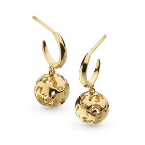 Stargazer Nova Orb Gold Drop Earrings