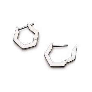 Empire Manhattan Bar Hexagonal Hoop Earrings