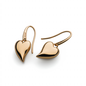 Desire Forever Lust Heart Rose Gold Drop Earrings