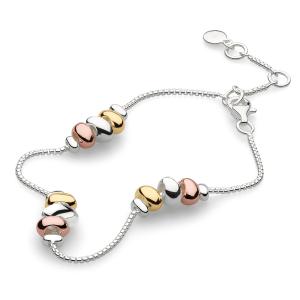 Coast Tumble Trio Station Gold & Rose Gold Bracelet