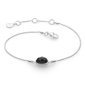 Coast Pebble Stone Black Agate Mini Bracelet