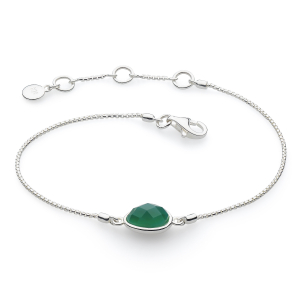 Coast Pebble Stone Green Agate Mini Bracelet