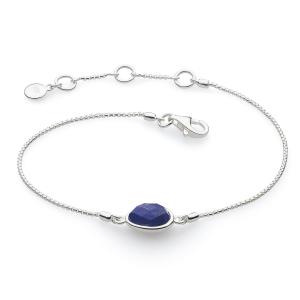 Coast Pebble Stone Lapis Lazuli Mini Bracelet