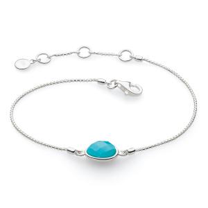 Coast Pebble Stone Turquoise Mini Bracelet