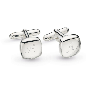 Domed Square Engravable Cufflinks