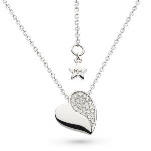 Miniature Sparkle CZ Super Heart Necklace