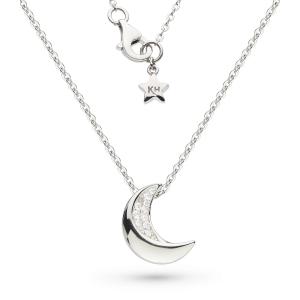 Miniature Sparkle CZ Super Moon Necklace