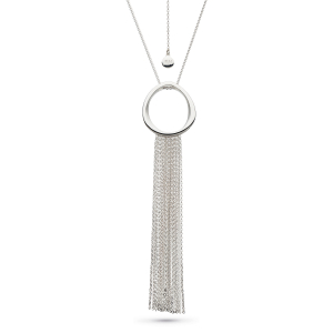 Coast Shore Sandblast Waterfall Toggle Necklace