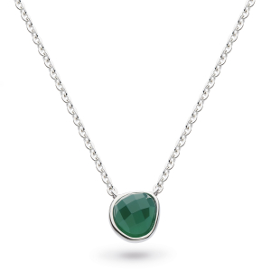 Coast Pebble Green Agate Mini Necklace