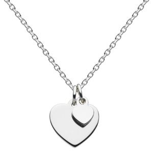 Girls Token of Love Double Heart Necklace
