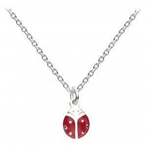 Girls Graceful Ladybird Enamel Necklace