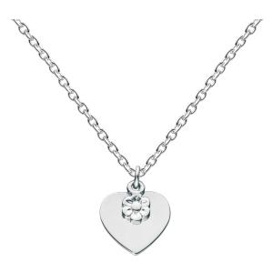 Girls Flower Heart Necklace