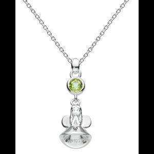 Girls Necklace Fairy Birthstone August