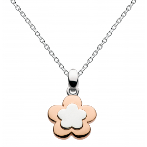 Girls Pretty Petal Rose Gold Plate Necklace