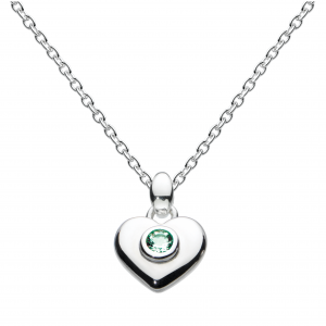 Girls Heart Birthstone May