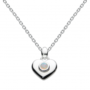 Girls Heart Birthstone October