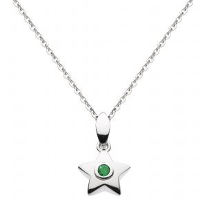 Stella Birthstone Synthetic Emerald Necklace