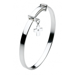 Girls Diamond Cross Bangle