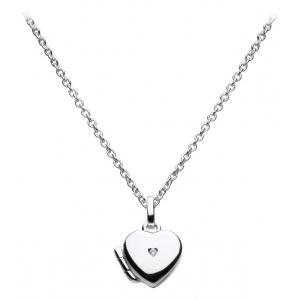 Girls Diamond Heart Locket Necklace