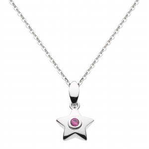 Stella Birthstone Synthetic Ruby Necklace