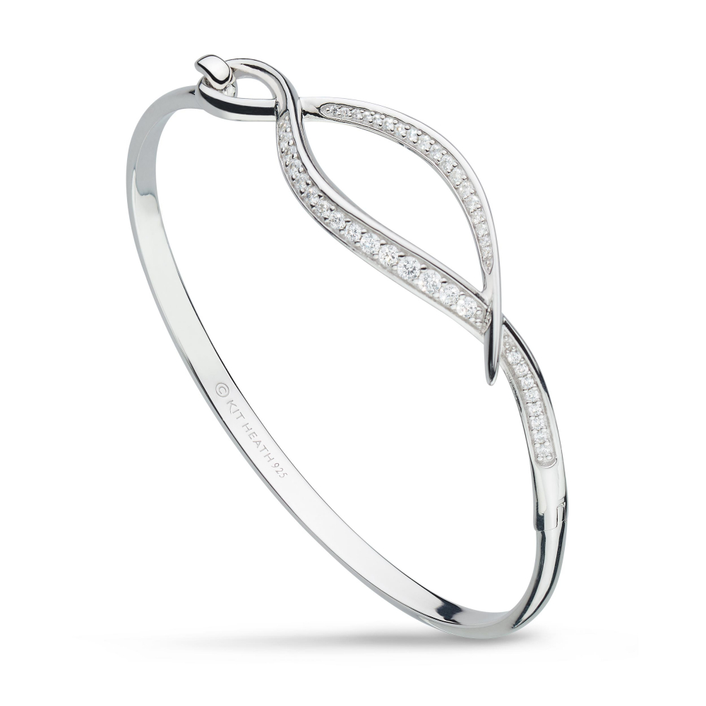 Solid sterling silver Kit Heath bangle