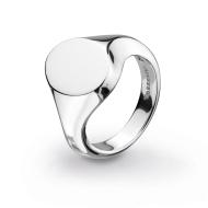 Bevel Curve Heirloom Signet Ring