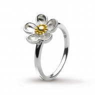 Blossom Wood Rose Large Gold Ring