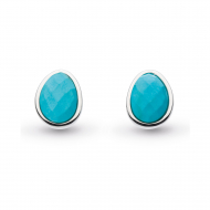 Coast Pebble Turquoise Large Stud Earrings