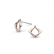 Entwine Alicia Small Rose Gold Stud Earrings