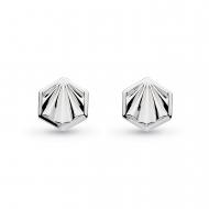 Empire Deco Hexagonal Stud Earrings