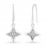 Empire Astoria Starburst CZ Star Drop Earrings