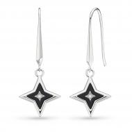 Empire Astoria Glitz Onyx & CZ Star Drop Earrings