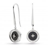 Empire Astoria Nocturne Onyx & CZ Spinner Drop Earrings