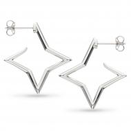 Empire Astoria Star Outline Hoop Stud Earrings