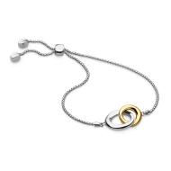 Bevel Cirque Link Gold Toggle Bracelet