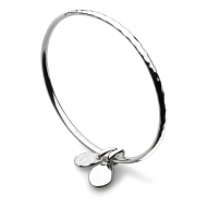 Coast Pebble Double Tag Bangle